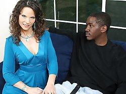 Her stepsons big black dick rocks this yummy MILF