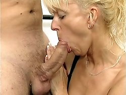 Blonde mature fucked anally